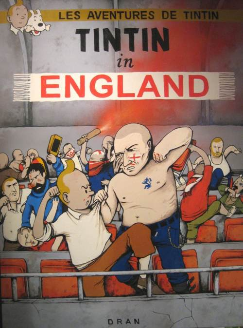 Tintin-in-England-football-fight