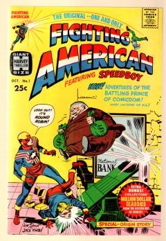 Notera likheterna mellan Browns kostym och den hos en annan skapelse av Joe Simon och Jack Kirby!