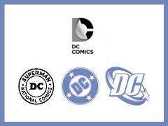 DCs logotyper från 40-talet och framåt. Ska det kallas utveckling?
