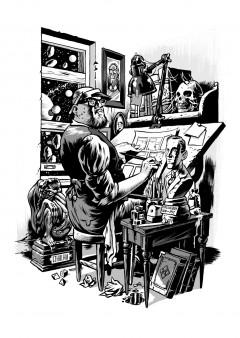Erik Kriek i studion.