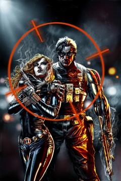 Vackert par i fara: Black Widow och Winter Soldier.