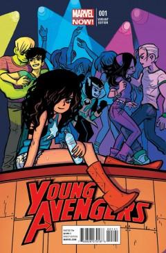 Young Avengers #1 Variant Cover av Scott Pilgrim-skaparen Bryan Lee O'Malley
