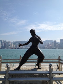 Bruce Lee i brons på Hong Kongs Walk of Fame.