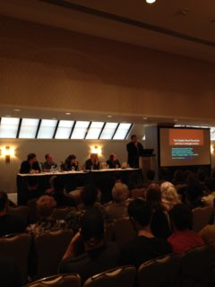 Mark Siegel, Andy Brown, Annie Koyama, Brian K. Vaughan, Heidi MacDonald och Chris Butcher inleder TCAF.